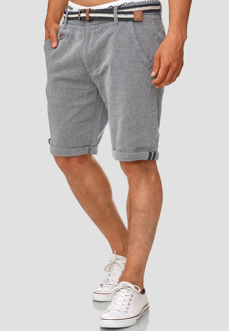 INDICODE JEANS - CASUAL FIT - Shorts - mottled light blue