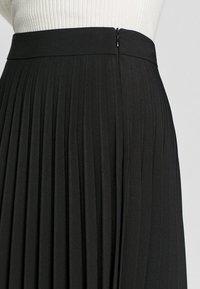 Stradivarius - PLISSIERTER ROCK  - Pleated skirt - black - 3