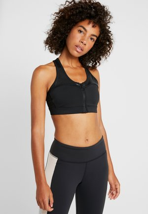 ZIP BRA - Sports bra - black