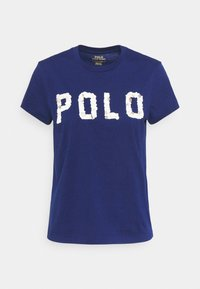 Print T-shirt - holiday navy