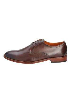BROWN CONTRAST SOLE DERBY - Smart lace-ups - brown