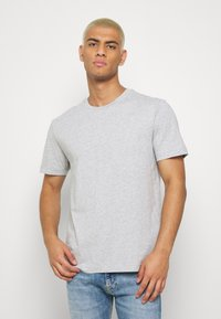 Calvin Klein - LOGO 2 PACK - T-shirts basic - olive/mottled light grey - 4