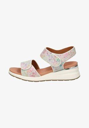 Platform sandals - white  flower