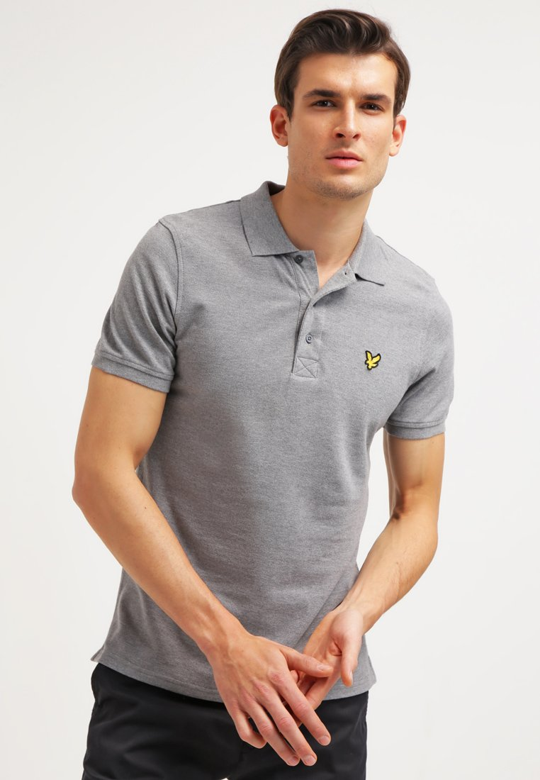 Lyle & Scott - Piké - mid grey marl