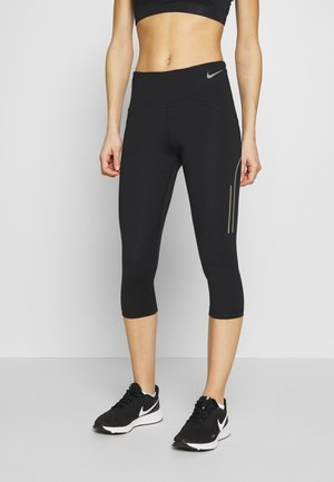 SPEED CAPRI MATTE - Pantaloncini 3/4 - black/gunsmoke