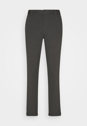 CROPPED SLIM - Pantalones chinos - anthra melange