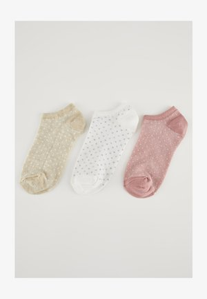3-PACK - Calcetines - brown, white, pink