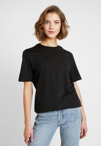 Nly by Nelly - OVERSIZE TEE - Basic T-shirt - black - 0