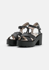mtng - EMELINE - Platform sandals - black - 2