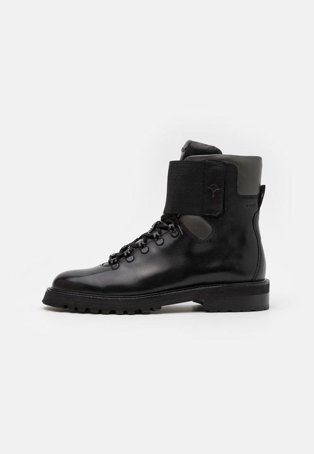 PERO MARIO BOOT - Snørestøvletter - black