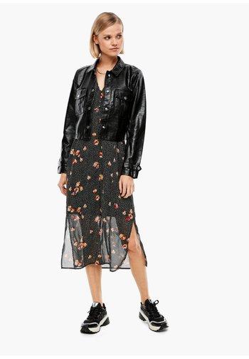 REPTILE - Faux leather jacket - black