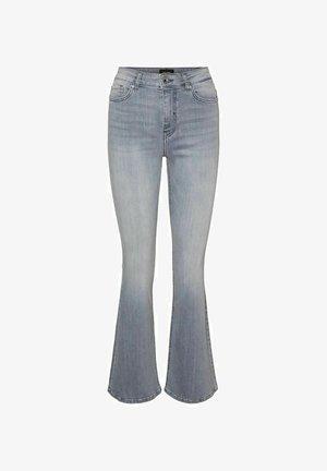 VMSIGA - Bootcut jeans - light grey denim