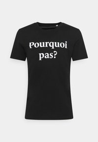 Les Petits Basics - POURQUOI PAS PRINT UNISEX - Print T-shirt - black - 0