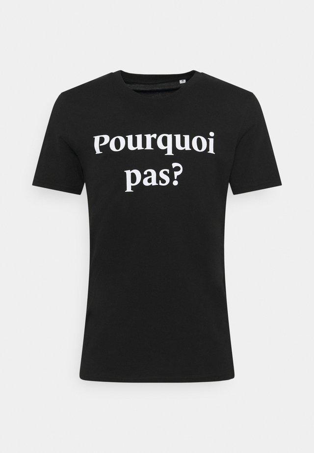 POURQUOI PAS PRINT UNISEX - Print T-shirt - black