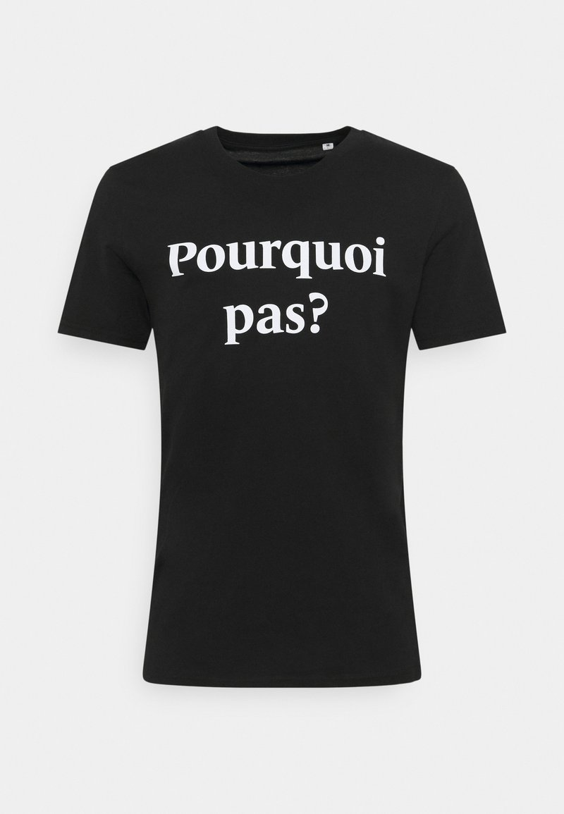 Les Petits Basics - POURQUOI PAS PRINT UNISEX - Print T-shirt - black