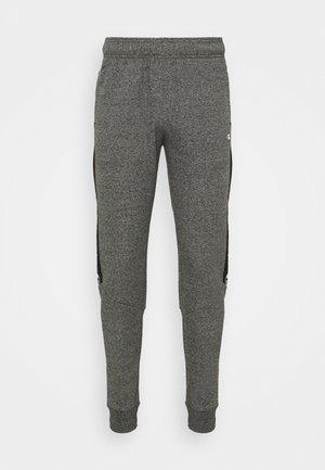TAPE PANTS - Tracksuit bottoms - black/dark grey melange