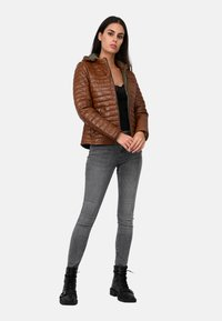 Oakwood - POWER - Leather jacket - cognac color - 1