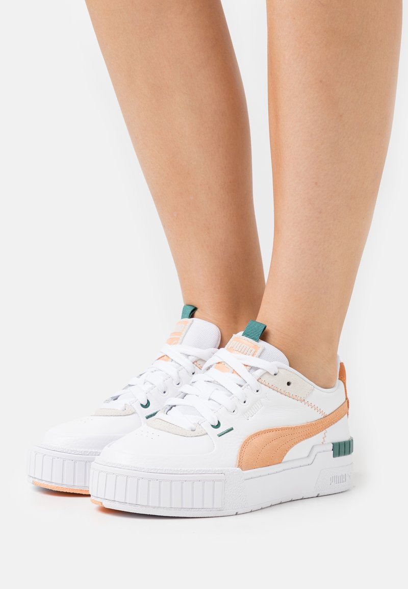 Puma - CALI SPORT MIX - Trainers - white/peach cobbler