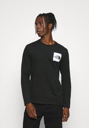 FINE TEE  - Long sleeved top - black