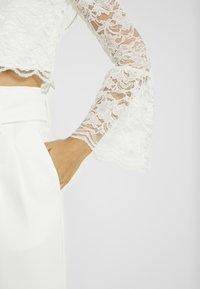 YAS - YASQUINN CROPPED - Bluse - star white - 5
