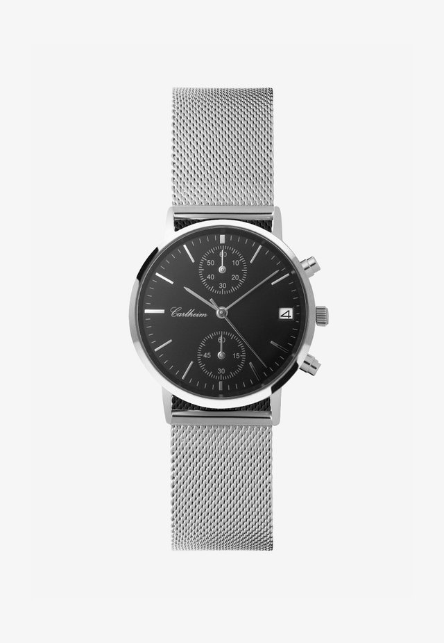 Chronograph watch - silver-black