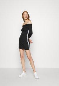 Calvin Klein Jeans - OFF THE SHOULDER MILANO DRESS - Shift dress - black - 1