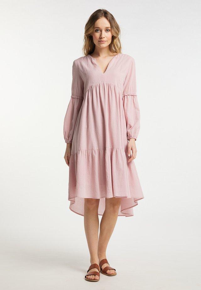 Sukienka letnia - vintage rosa