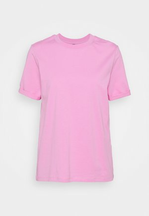 PCRIA FOLD UP SOLID TEE  - T-shirt basic - pastel lavender