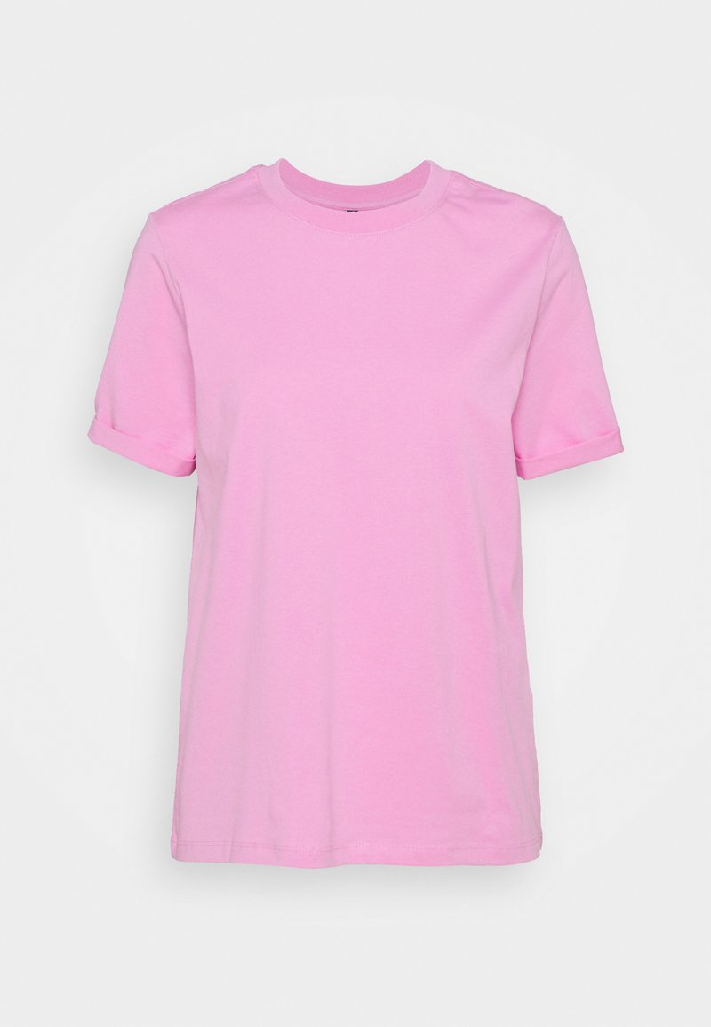 Pieces - PCRIA FOLD UP SOLID TEE  - T-shirts - pastel lavender
