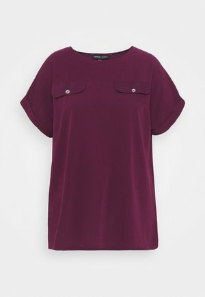UTILITY BOXY - Print T-shirt - aubergine