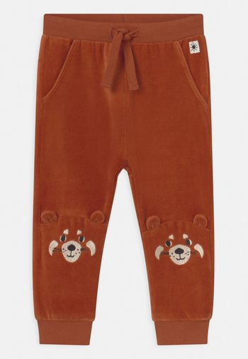 TROUSERS FACE AT KNEE UNISEX - Trousers - dark dusty orange