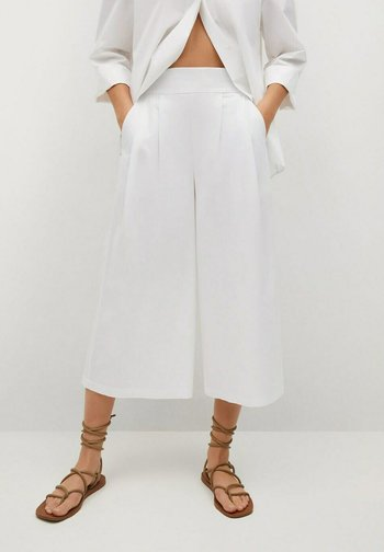 ADEU - Trousers - blanco roto