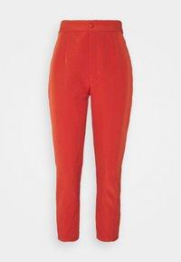 Missguided Petite - TAILORED CIGARETTE TROUSER - Trousers - orange - 4