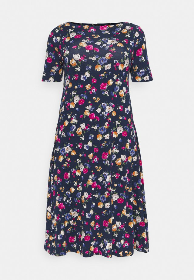 MUNZIE CASUAL DRESS - Žerzejové šaty - lauren navy/multi