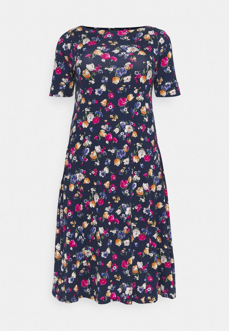 Lauren Ralph Lauren Woman - MUNZIE CASUAL DRESS - Sukienka z dżerseju - lauren navy/multi