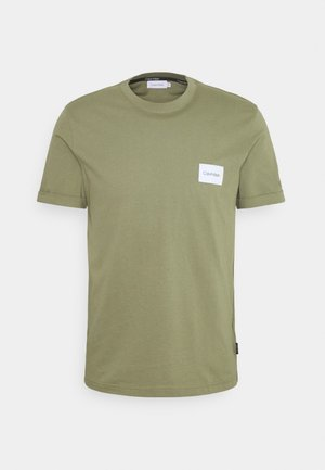 TURN UP LOGO SLEEVE - T-shirt basique - green