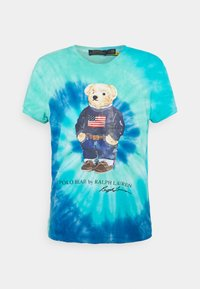 Polo Ralph Lauren - TIE DYE BEAR SHORT SLEEVE - T-shirt con stampa - blue jerry - 4