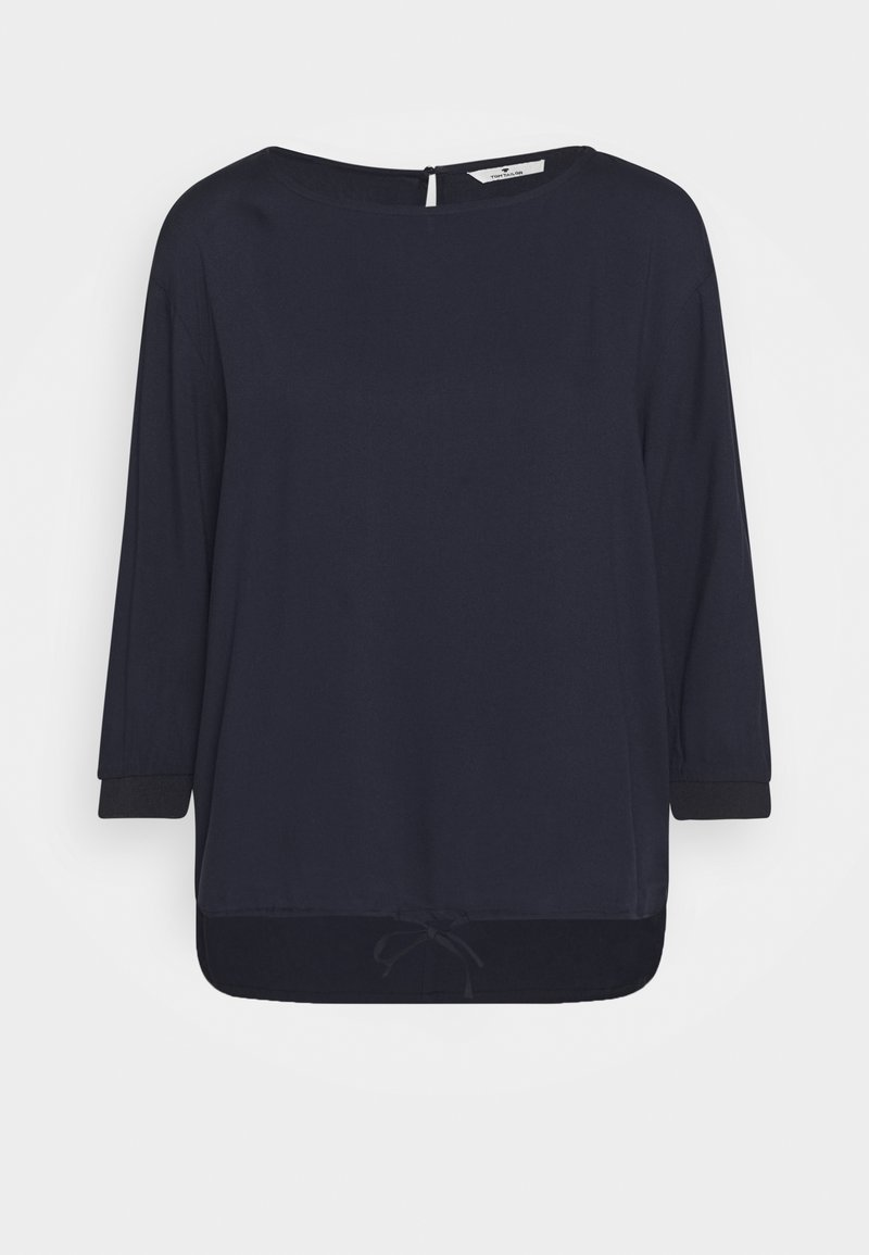 TOM TAILOR - BLOUSE SOLID WITH TAPE DETAIL - Blouse - sky captain blue