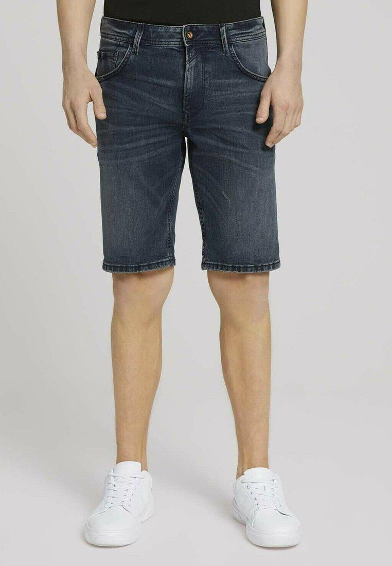 TOM TAILOR DENIM - Denim shorts - blue-black denim