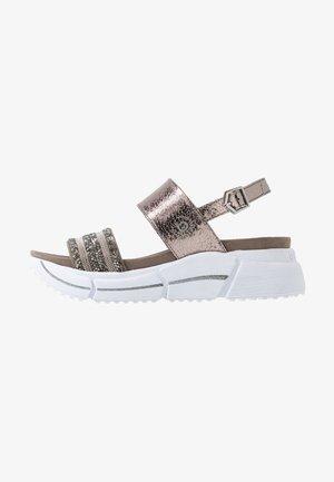 RAJA - Platform sandals - grey/metallics