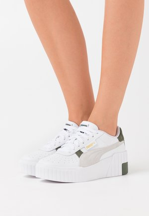 CALI WEDGE MIX - Trainers - white/thyme