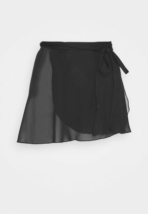 WRAP SKIRT - Sports shorts - black