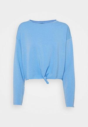 KNOT TIE CROP - Long sleeved top - blue crescent