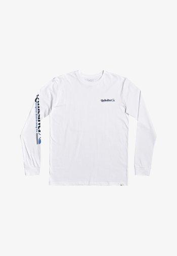 CHECK YO SELF - LONGSLEEVE - Long sleeved top - white