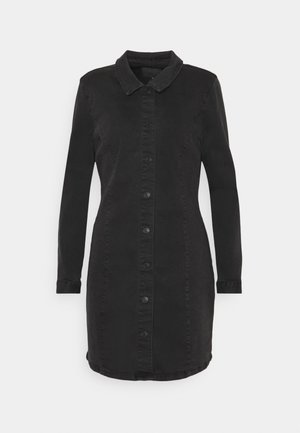 ONLSHARLENE LIFE BUTTON DRESS - Dongerikjole - black