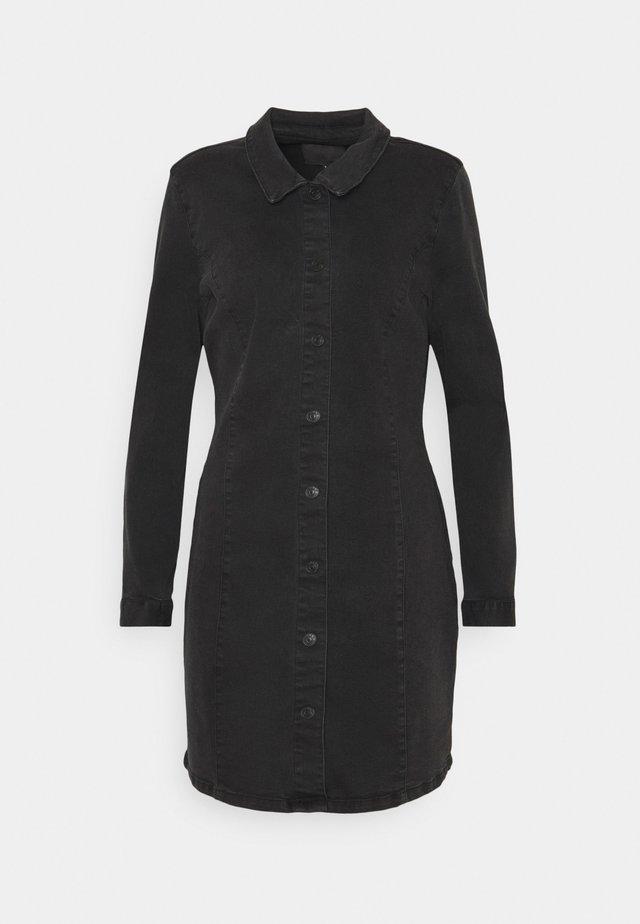 ONLSHARLENE LIFE BUTTON DRESS - Sukienka jeansowa - black
