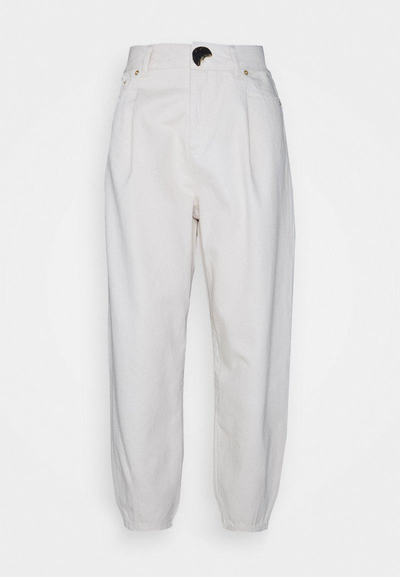 Mother of Pearl - TAPERED JEAN WITH TUCKS AT HEM - Relaxed fit jeans - ecru