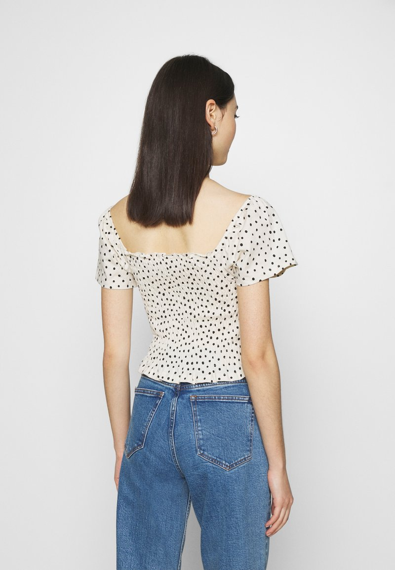 Monki - RIVA  - Print T-shirt - white dusty light