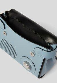 KARL LAGERFELD - RADIO MINI  - Handbag - light blue/silver - 2
