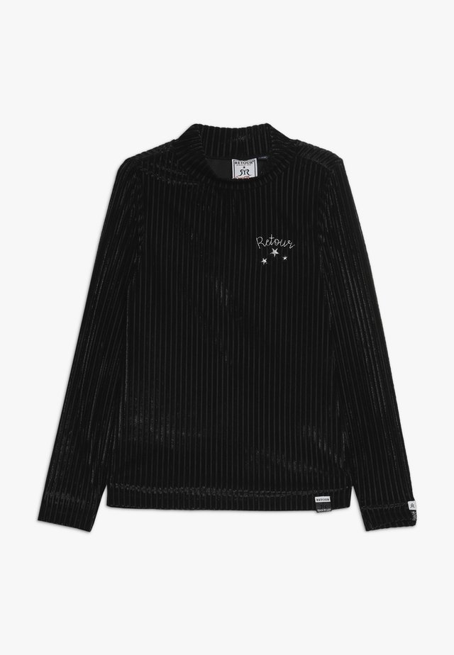THAMAR - Pitkähihainen paita - black